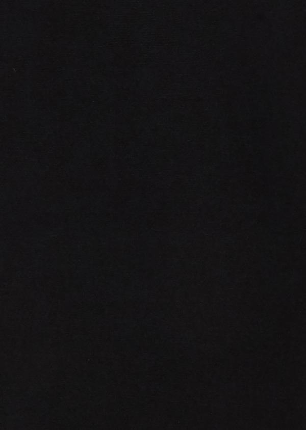 Pull en laine mérinos col roulé uni noir - Father and Sons 26881