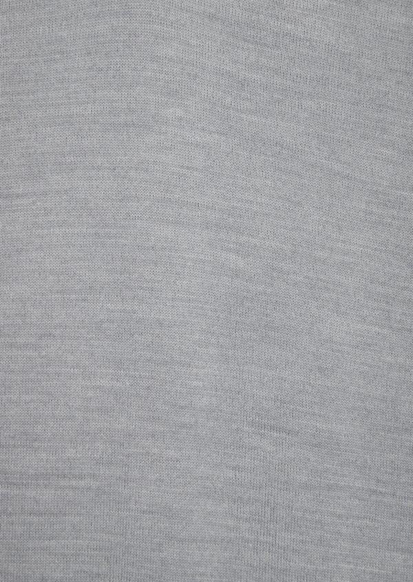 Pull en laine Mérinos mélangée col V uni gris clair - Father and Sons 36360