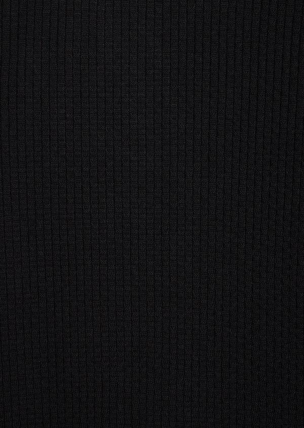 Pull en laine Mérinos mélangée col V uni noir - Father and Sons 36992
