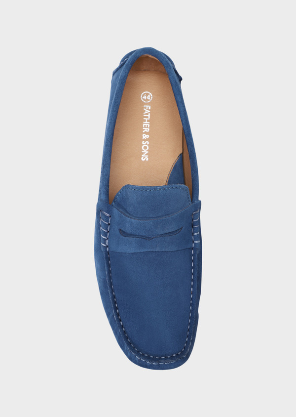Mocassins en daim bleu - Father and Sons 32267
