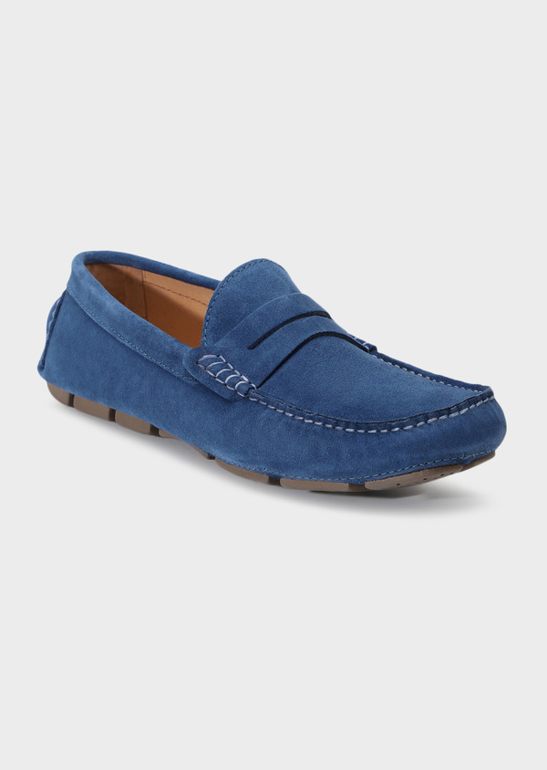 Mocassins en daim bleu - Father and Sons 32266