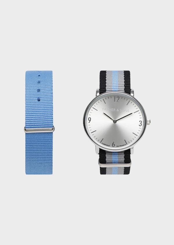 Montre bracelet nato interchangeable bleu ciel - Father and Sons 30936