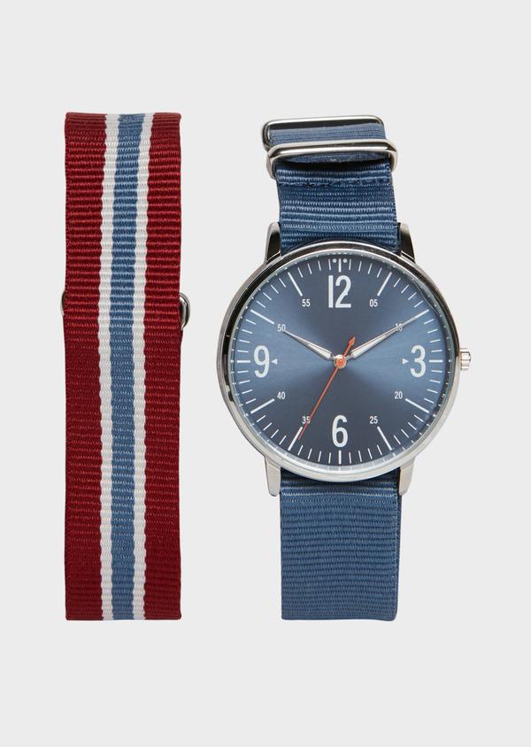 Montre bracelet nato interchangeable rouge et bleu - Father and Sons 26887