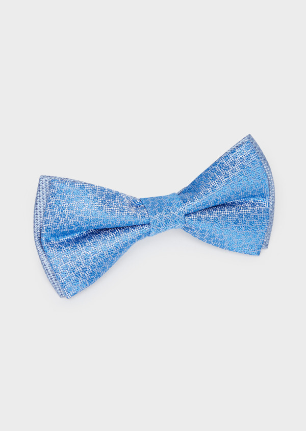 Noeud-papillon bleu chambray à motif fantaisie - Father and Sons 38255