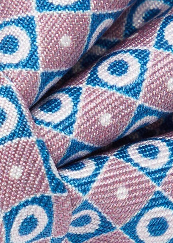 Noeud-papillon à motifs géométriques rose et bleu - Father and Sons 40221