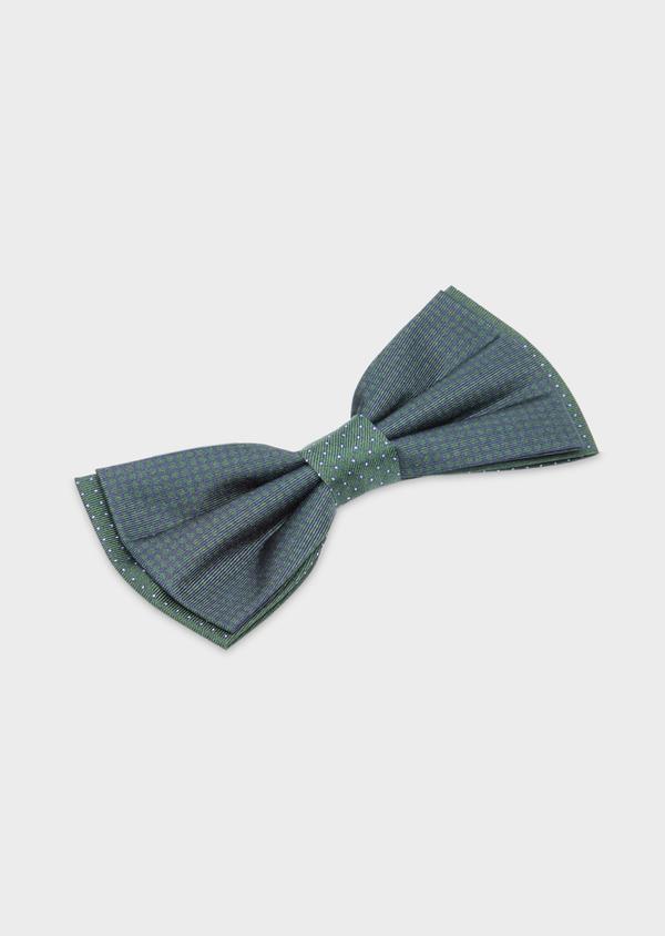 Noeud-papillon bleu marine à pois vert - Father and Sons 38253