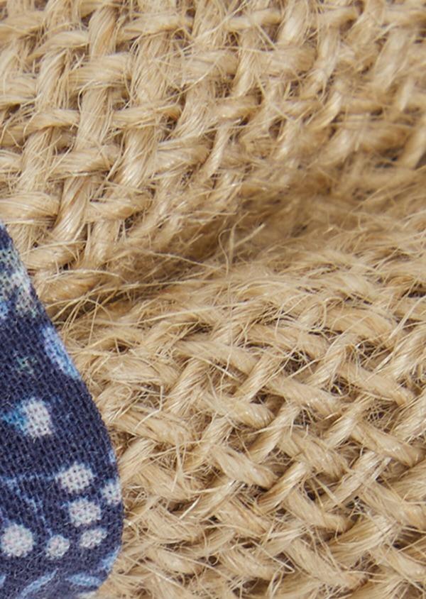 Noeud-papillon en toile de jute à motif fleuri bleu foncé, bleu ciel et blanc - Father and Sons 36396