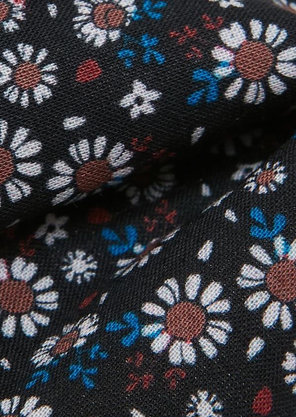 Noeud Papillon en popeline de coton bleu marine à motif fleuri - Father and Sons 27370