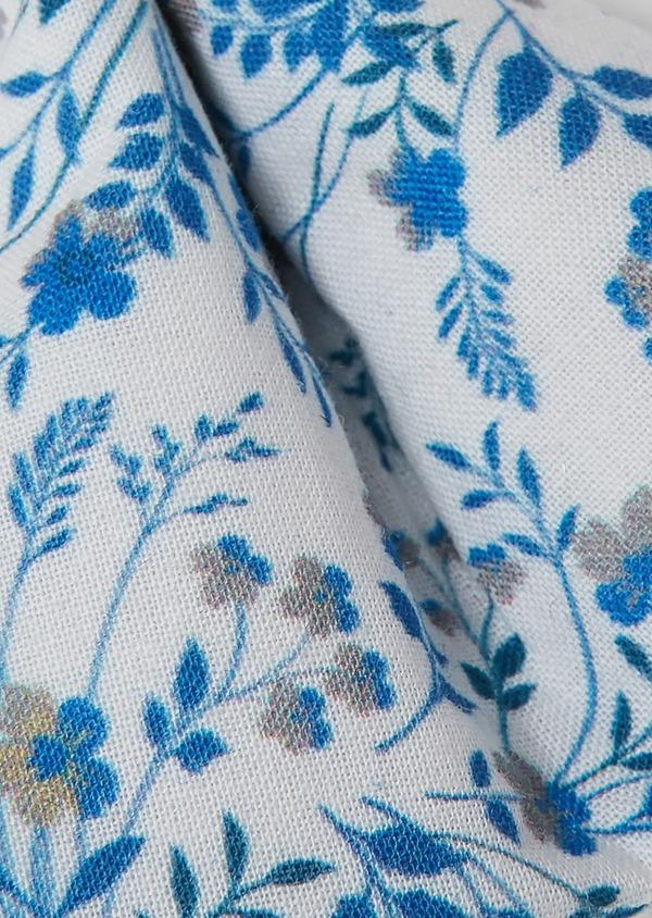 Noeud Papillon en popeline de coton indigo à motif fleuri - Father and Sons 27366