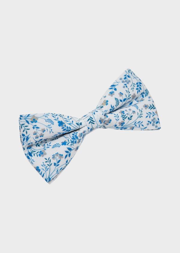 Noeud Papillon en popeline de coton indigo à motif fleuri - Father and Sons 27365