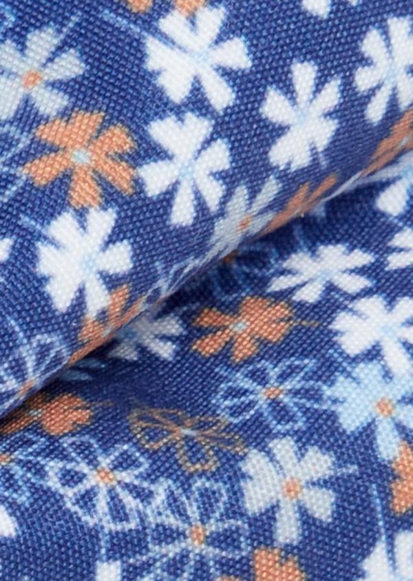 Noeud-papillon bleu indigo à motif fleuri bleu et orange - Father and Sons 38236
