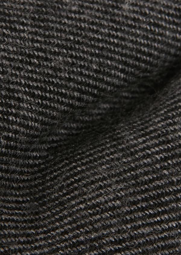 Noeud Papillon en coton sergé gris anthracite uni - Father and Sons 26898