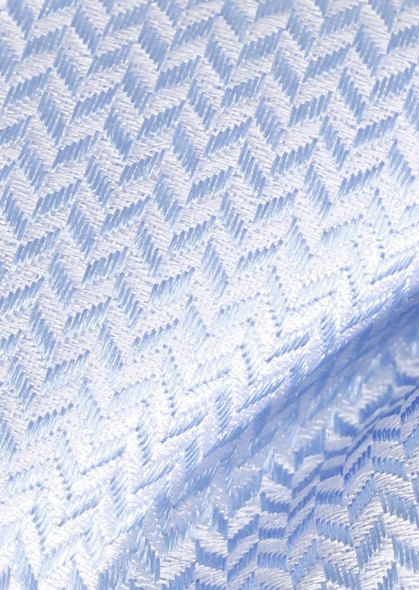 Noeud-papillon en soie bleu ciel à motif fantaisie - Father and Sons 33231