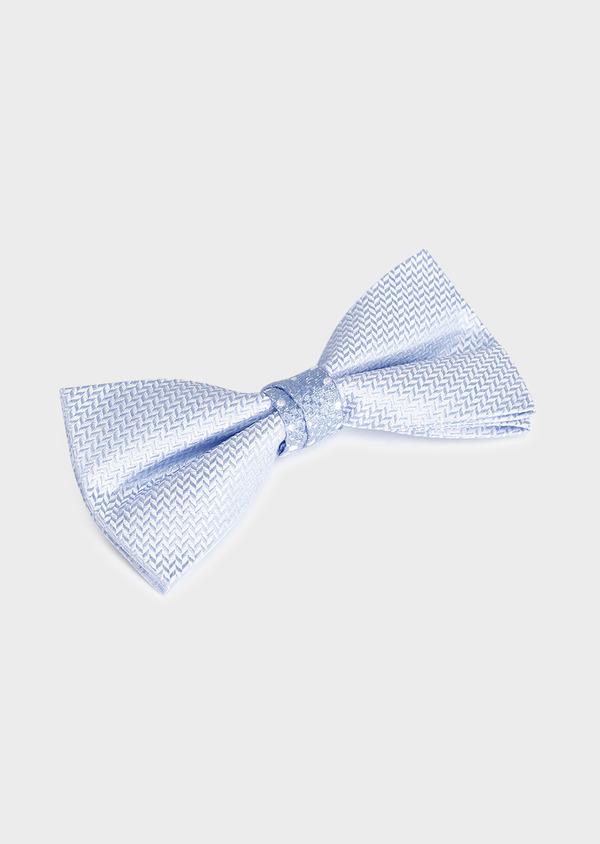 Noeud-papillon en soie bleu ciel à motif fantaisie - Father and Sons 33230