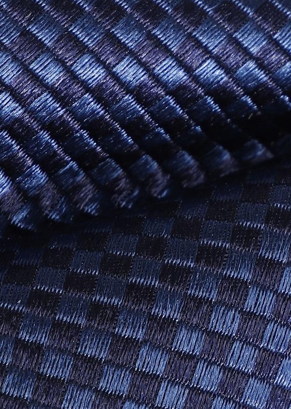 Noeud-papillon en soie bleue à motifs géométriques - Father and Sons 33251