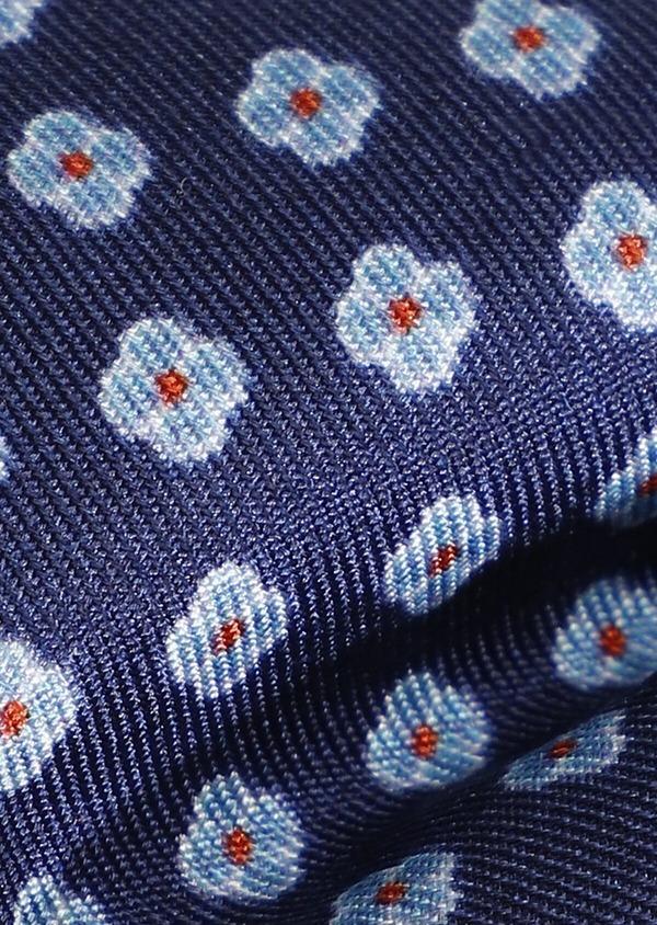 Noeud-papillon en soie bleu marine à pois - Father and Sons 33227