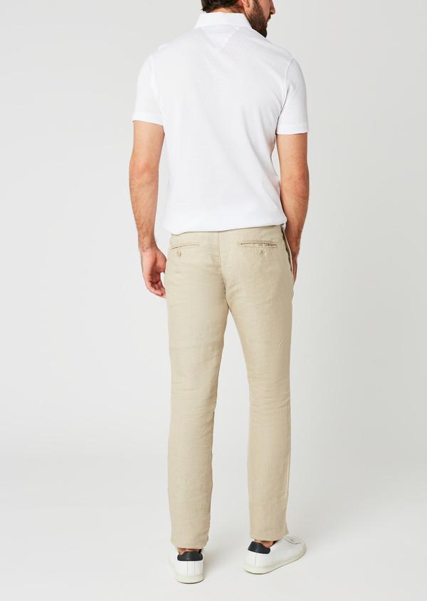 Pantalon Casual en lin uni beige - Father and Sons 20320