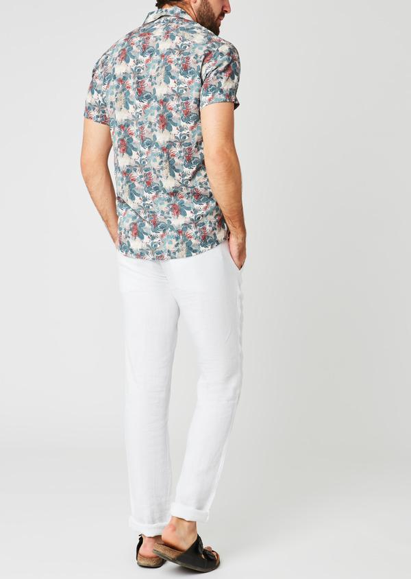 Pantalon Casual en lin uni blanc - Father and Sons 20326