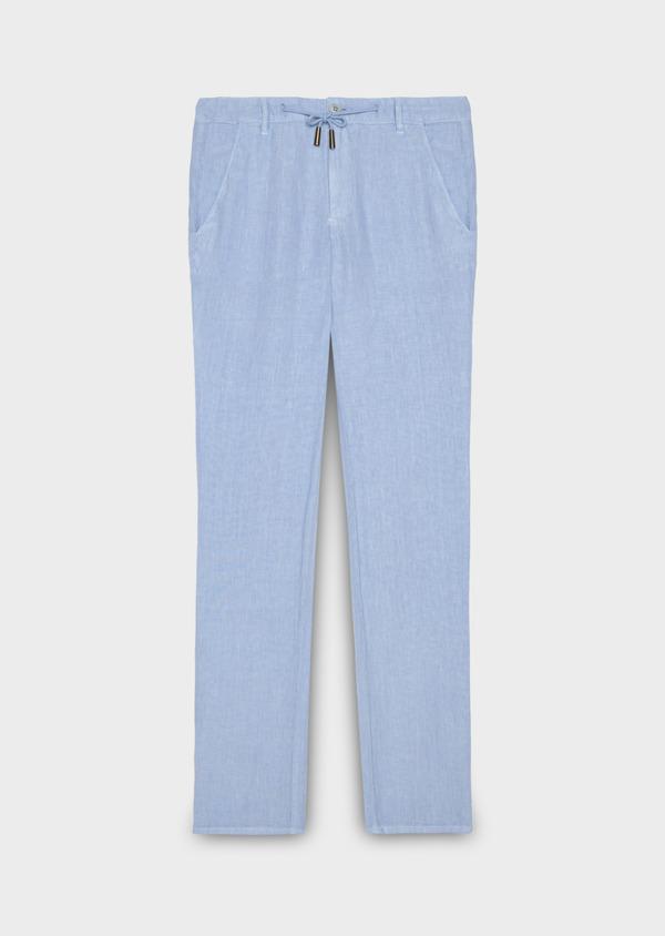 Pantalon Casual en lin uni bleu ciel - Father and Sons 20329
