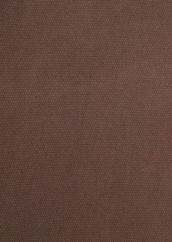 Pantalon casual skinny en coton stretch uni marron - Father and Sons 36132