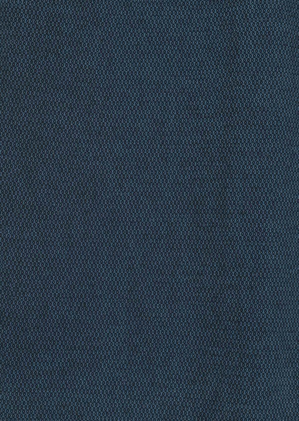 Pantalon casual skinny en coton stretch uni bleu - Father and Sons 36124