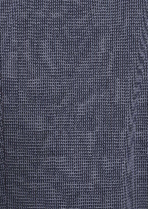 Pantalon casual skinny en coton stretch à motif fantaisie bleu chambray - Father and Sons 35864