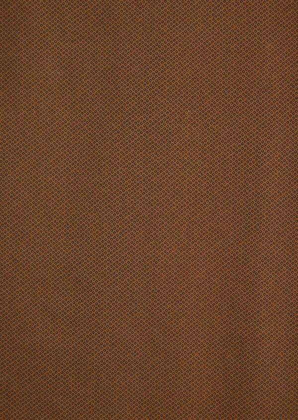Chino slack skinny en coton stretch à motif fantaisie marron - Father and Sons 36785