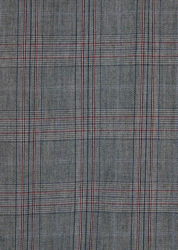Chino slack skinny en coton gris Prince de Galles - Father and Sons 36512