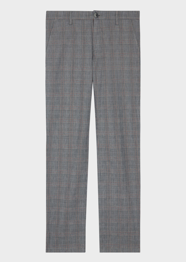 Chino slack skinny en coton gris Prince de Galles - Father and Sons 36511