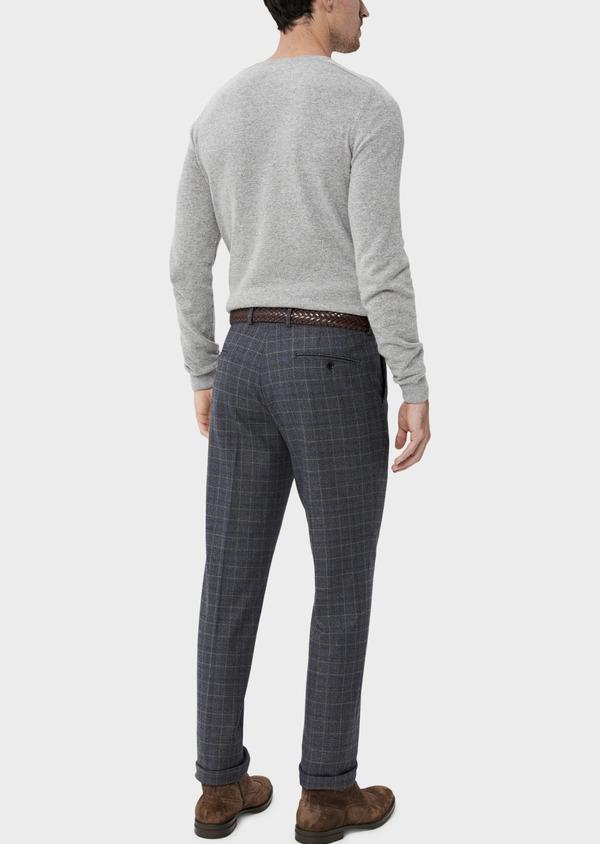 Pantalon coordonnable Skinny bleu indigo Prince de Galles - Father and Sons 35401