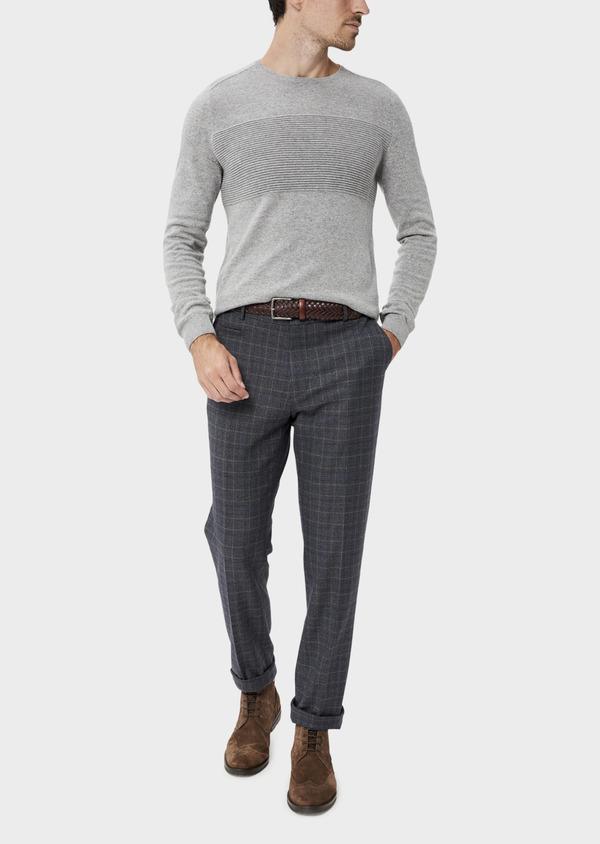Pantalon coordonnable Skinny bleu indigo Prince de Galles - Father and Sons 35400