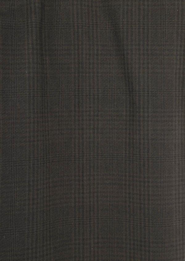Chino slack skinny en coton mélangé vert kaki Prince de Galles - Father and Sons 36108