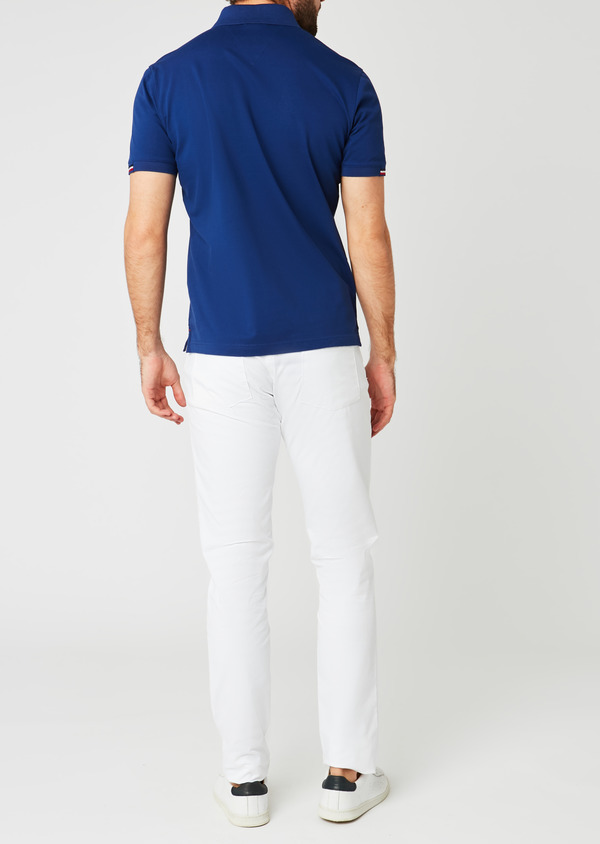 Chino slack skinny en coton stretch blanc uni - Father and Sons 20334