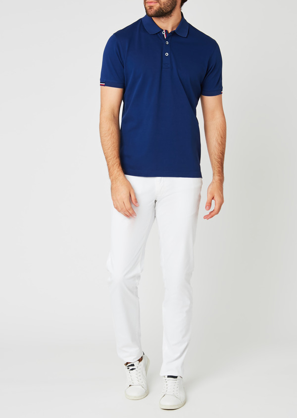 Chino slack skinny en coton stretch blanc uni - Father and Sons 20333