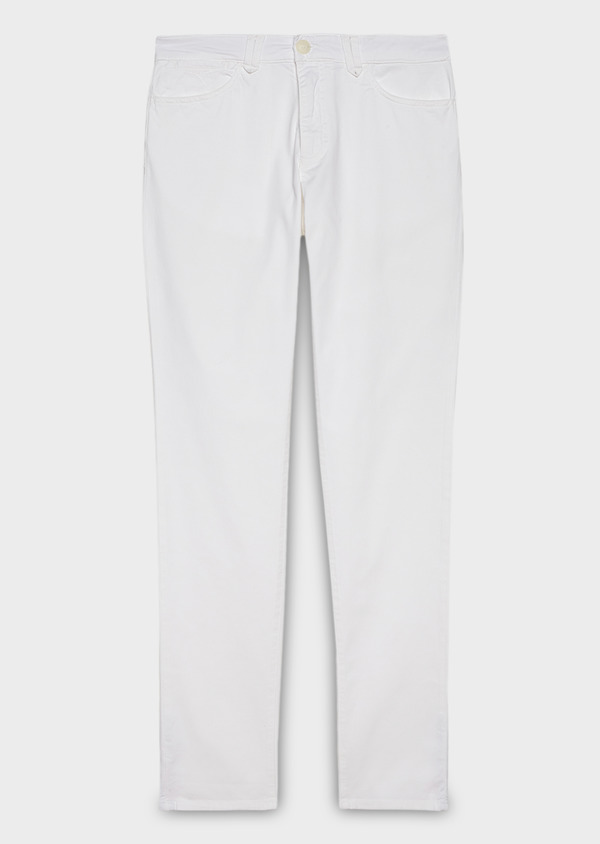 Chino slack skinny en coton stretch blanc uni - Father and Sons 20331