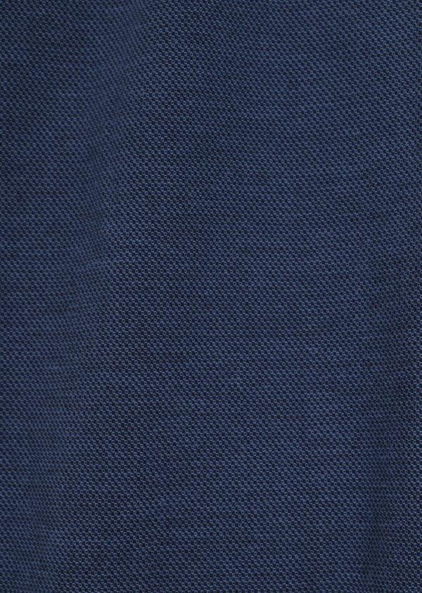 Pantalon casual skinny en coton stretch uni bleu indigo - Father and Sons 36128