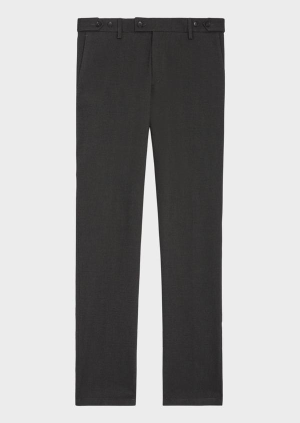 Pantalon coordonnable Slim en coton mélangé façonné à pois vert kaki - Father and Sons 36111