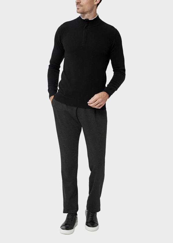 Pantalon coordonnable Slim en jersey uni gris - Father and Sons 35692