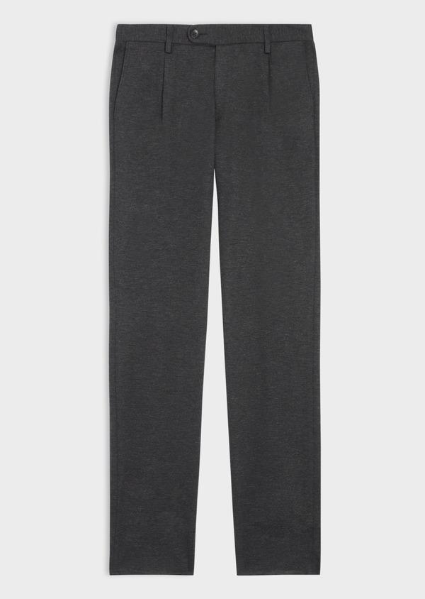 Pantalon coordonnable Slim en jersey uni gris - Father and Sons 35690