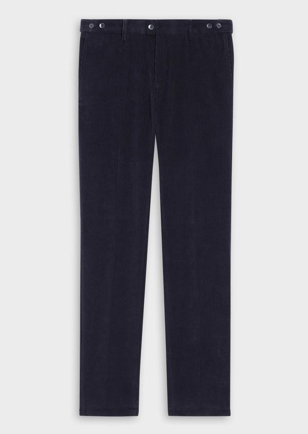 Pantalon coordonnable Slim en velours côtelé uni bleu indigo - Father and Sons 35386