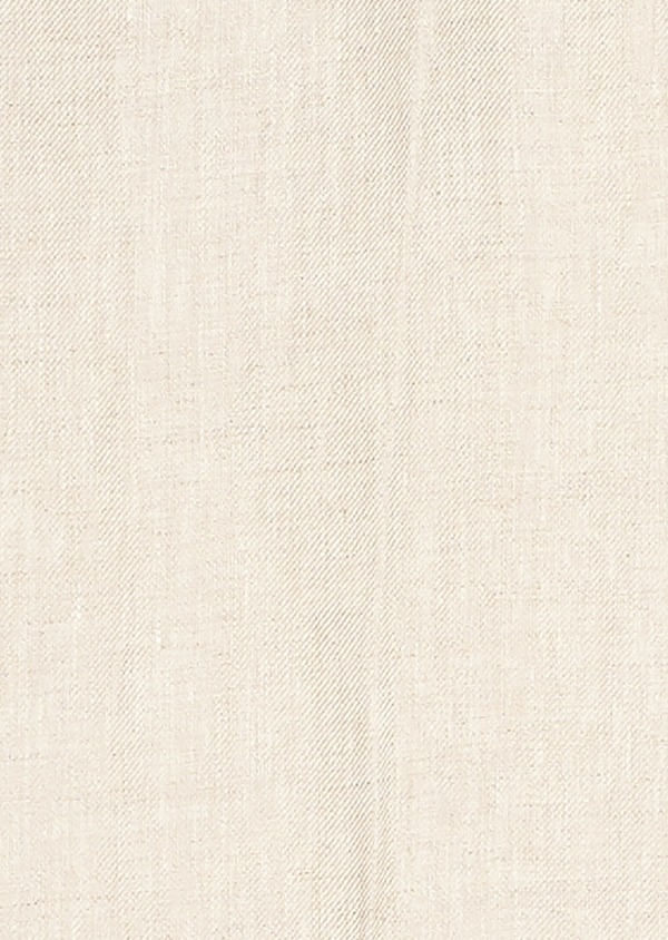Pantalon coordonnable regular en lin uni beige - Father and Sons 20206