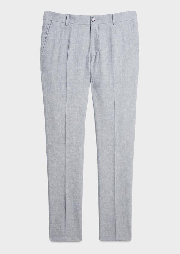 Pantalon coordonnable skinny en lin mélangé gris - Father and Sons 20211