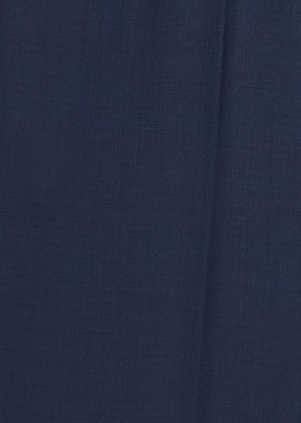 Pantalon de costume Regular en laine Vitale Barberis Canonico bleu marine Prince de Galles - Father and Sons 20028