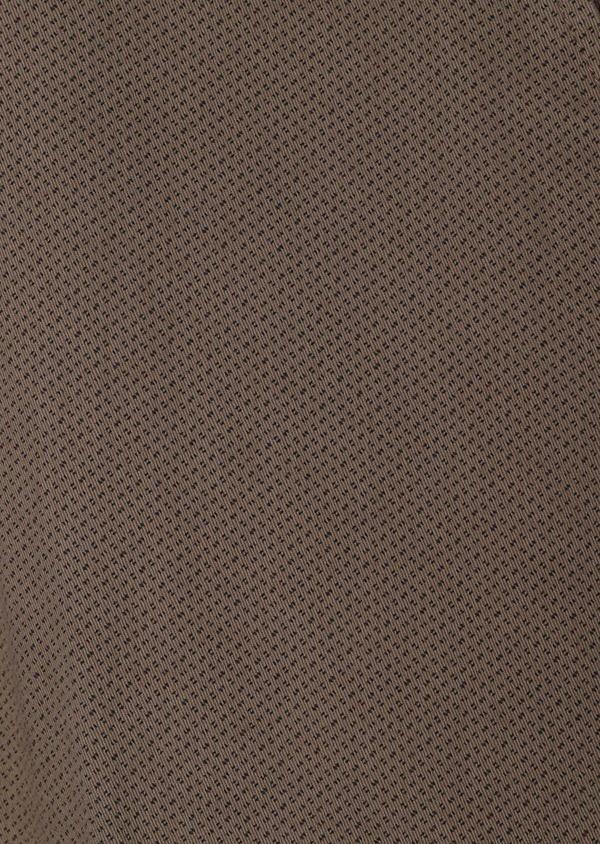 Chino slack skinny en coton stretch beige foncé à motif fantaisie - Father and Sons 31158
