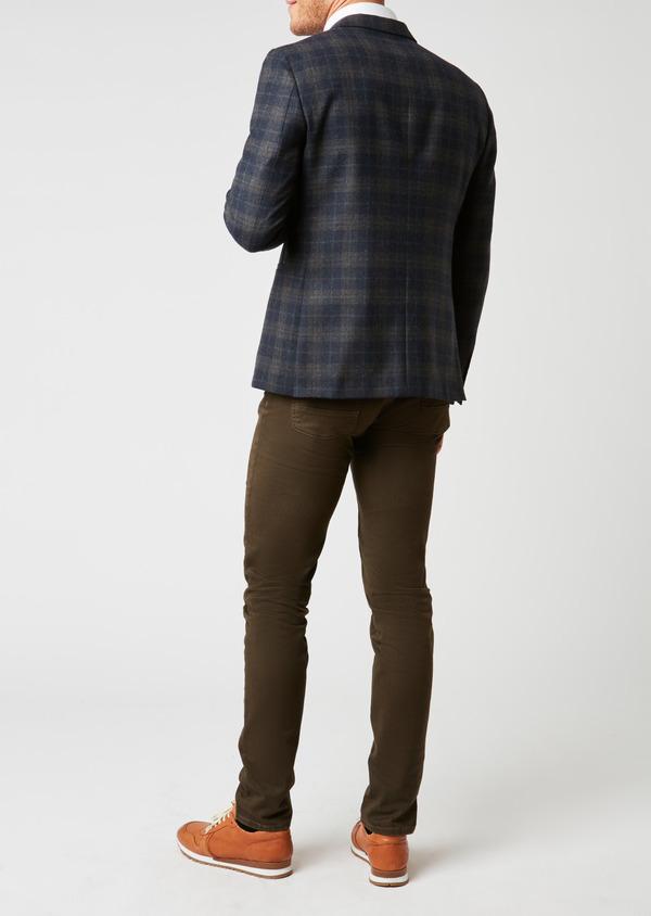 Pantalon skinny en coton beige foncé à motif fantaisie - Father and Sons 26978