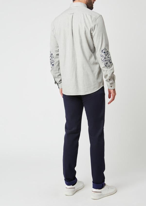 Pantalon skinny en coton violet à motif fantaisie - Father and Sons 28032