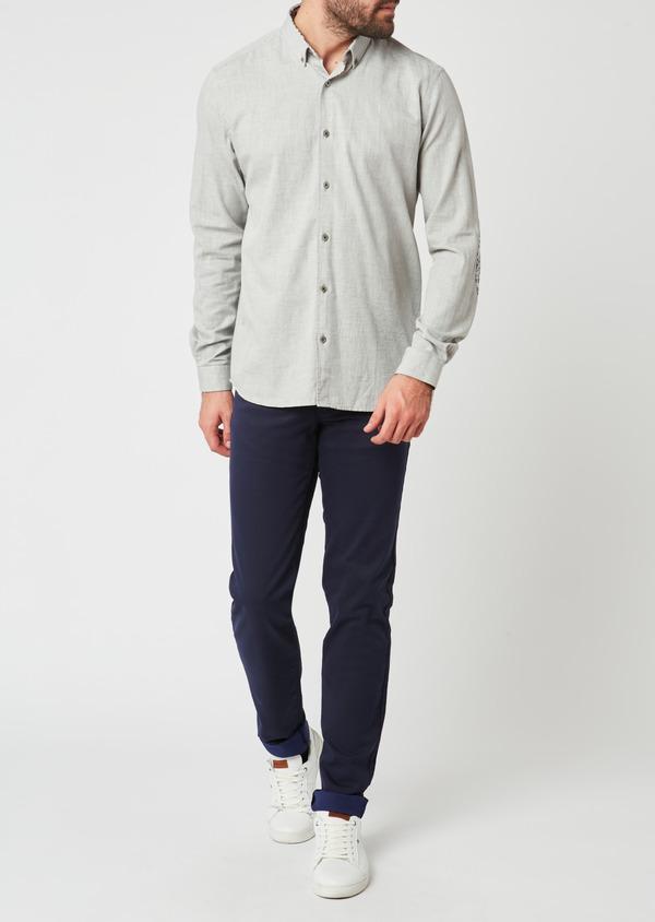Pantalon skinny en coton violet à motif fantaisie - Father and Sons 28031