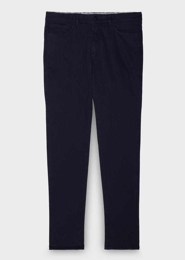 Pantalon skinny en coton violet à motif fantaisie - Father and Sons 28029