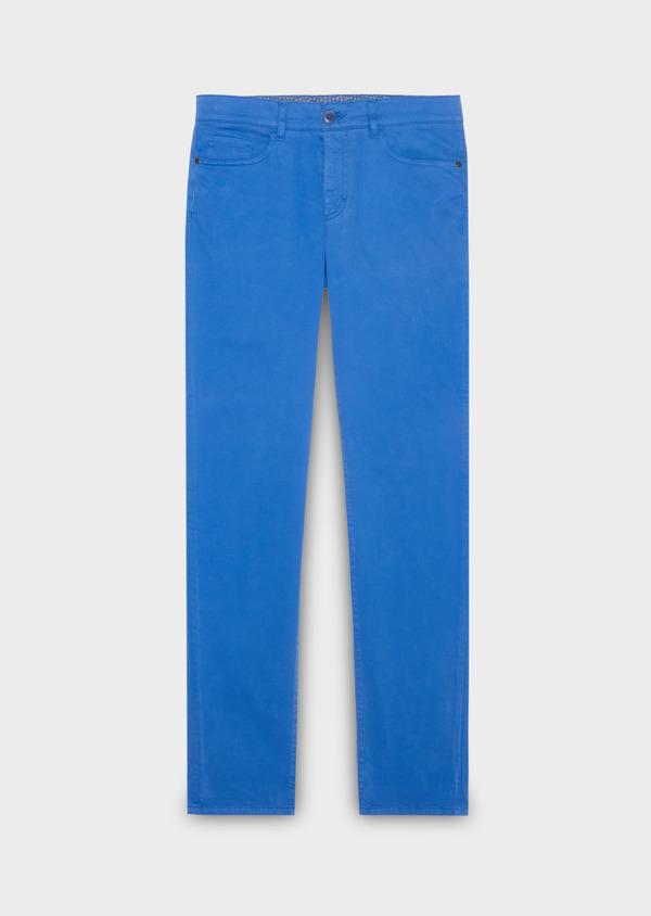 231de9b2281f3 Chino slack skinny en coton stretch bleu fleuri - Father and Sons 18496