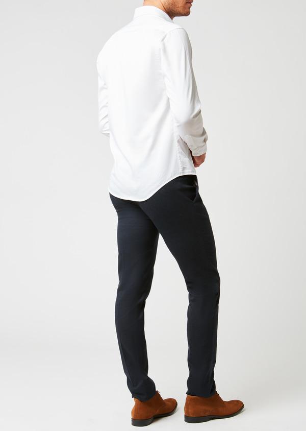 Pantalon coordonnable Slim en coton façonné uni bleu - Father and Sons 26933